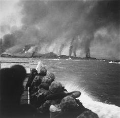 Churning towards a burning Inchon, September 15, 1950