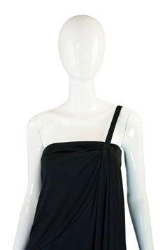 1970s One Shoulder Mac Tac Maxi Dress
