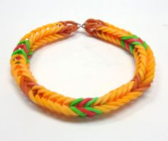 Applejack Inspired Friendship Bracelet, My Little Pony Rainbow Loom Stretchy Bracelet, My Little Pony Friendship Bracelet, Brony Fans