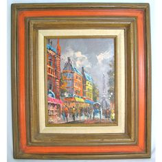 *SOLD* ORIGINAL SIGNED PARIS SCENE EIFFEL TOWER OIL PAINTING $1 SORRY SOLD ... we sell more OLD VINTAGE PAINTINGS, ARTS, HOME DECORATIONS at http://www.TropicalFeel.com