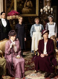 Downton Abbey costumes, season 5 << Has Daisy been wearing the same dress for five seasons?