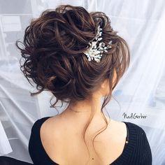 35 Stuning Long Curly Wedding Hairstyles from Nadi Gerber – Hair Styles Wedding Hairstyles For Long Hair, Bride Hairstyles, Cool Hairstyles, Hairstyle Ideas, Updo Hairstyle, Peinado Updo, Elegant Wedding Hair, Hair Wedding, Wedding Finger