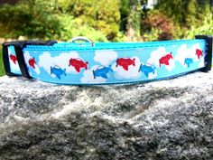 Airplane 1 Inch Width Dog Collar by WillyWoofs on Etsy, $18.00