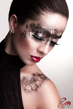 #makeup #mask #artist Unknown.