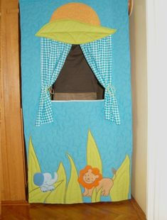 Handmade Doorway Puppet Theater, Door Curtain, Kid Playroom, Quilted Organic, Toddler Gift Handmade Doorway Puppet Theater Door Curtain by Customquiltsbyeva Home Theater Furniture, Toddler Playroom, Door Curtains, Curtain Door, Puppet Making, Little Elephant, Toddler Gifts, Doorway, Baby Quilts