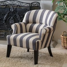 Shop for Christopher Knight Home Amelie Stripe Fabric Club Chair. Get free…