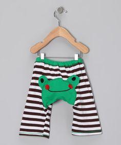 Green & Black Frog Pants - Infant & Toddler
