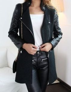 Ummmm, yes to this leather coat.