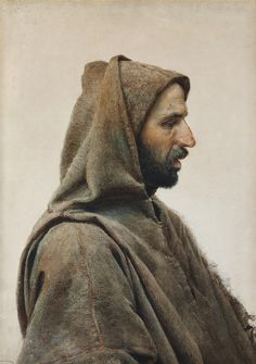 Man Wearing a Burnous, 1900 — José Tapiro y Baro,