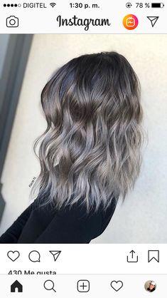 Silver Blonde Hair, Purple Hair, Hair Color Balayage, Hair Highlights, Short Hair Wigs, Short Hair Styles, Hair Color And Cut, Gorgeous Hair, Hair Looks