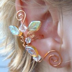 Fairy Wedding Ear Cuff  Sapphire and Ice by Thyme2dreamWeddings, $18.00