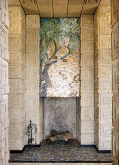 Glass Mosaic @ Frank Lloyd Wright's Ennis House in Los Feliz, Los Angeles