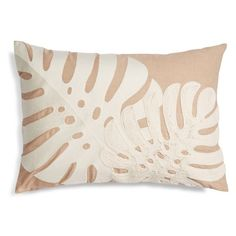 Nordstrom At Home Palm Embroidered Accent Pillow (8.070 HUF) ❤ liked on Polyvore featuring home, home decor, throw pillows, beige hummus, modern throw pillows, cream throw pillows, modern home decor, modern home accessories and cream colored throw pillows