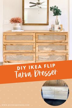 We took the IKEA tarva dresser and turned it into our dream dresser! With our step by step instructions, you can DIY you own cane dresser too! This IKEA DIY will give you the inspiration you need to get started! #ikeadiy #tarvadresser #diycanedresser #dreamdresser #stepbystep