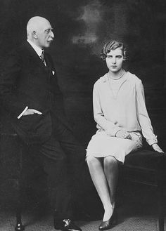 HRH THE DUKE OF CONNAUGHT, PRINCE ARTHUR, LOOKS AT HIS BEAUTIFUL GRAND-DAUGHTER, THE PRINCESS INGEBORG OF SWEDEN