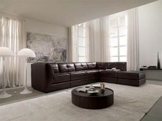 stacey leather sectional sofa 6 piece modular 3 armless chairs 2 square corners and ottoman furniture macyu0027s new house pinterest sectional