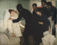 Hypnotic seance by Richard Bergh, 1887. Nationalmuseum Sweden, CC BY-SA