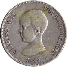 05 Pesetas. (1888)(*18-88) Madrid MS M.