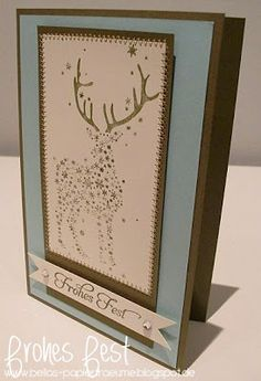 Tolle Weihnachtskarte mit Renke Stempeln