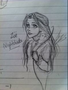 Zoe Nightshade. This is a really awesome drawing of her!
