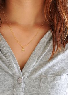 Initial Necklaces are a great way to express your individuality, and they fit almost any occasion. It's easy to layer them with other delicate pieces, such as our Endless necklaces. Besides using them