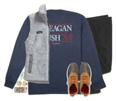 """""""Reagan Bush' 84"""" by emmig02 ❤ liked on Polyvore featuring Madewell, Patagonia, L.L.Bean, My Name Necklace, Maybelline, Casetify, women's clothing, women's fashion, women and female"""