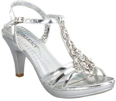 Yummy Rhinestone Platform Kitten Low Heel T Strap Party Wedding Evening Shoe | eBay
