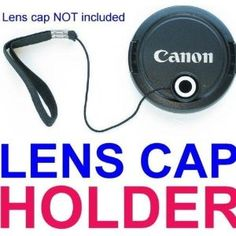 NEEWER® Lens Cap Keeper / Holder for ANY SLR or DSLR CAMERA! Nikon D40 D50 D60 D80 D200 D300 FUJI S1000 S1500 S2000 S700 S800 CANON XS XSi T1i SONY PENTAX