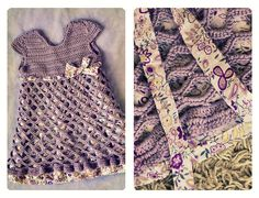 Pattern is in another pin... Bella Crochet Toddler Dress (front) by knittingcrush, via Flickr