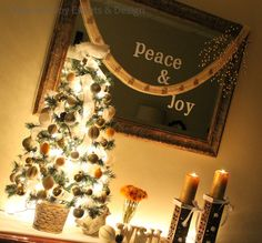 Golden Sparkly Christmas Decor  #christmas #sparkly