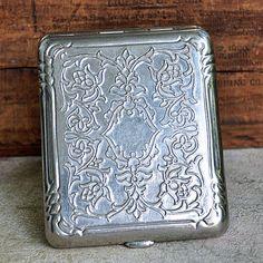 vintage cigarette case...    Jul 54 by CoolVintage on Etsy, $25.50