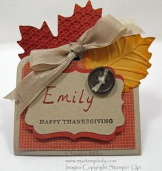 Thanksgiving Table place cards from My Stamp Lady