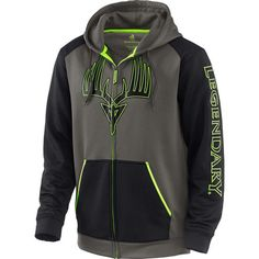 Mens Broadhead Monster Full-Zip Performance Hoodie - It's time to zip up some adrenaline.  Pure smooth finish performance poly provides just the right amount of warmth without the bulk and weight of cotton.  Features a large hidden zippered security pocket, our exclusive high definition Broadhead Monster graphics and high-viz accents.  No energy drink needed!