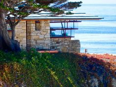 Mrs Clinton Walker Residence.1924. Carmel California. Usonian Style. Frank Lloyd Wright