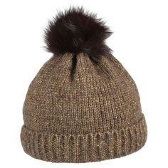 Tamika Arctic Fox Pom Pom Hat by McBURN