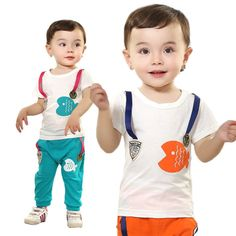 Boys Girls t shirts + Long Pants Sport Suit Kids Bebe Cartoon Fish Clothing Set Baby Short Sleeve S-neck Clothes Suits products $13.99 - 14.56 Cartoon Fish, Clothing Sets, Prince Clothing, Kids Suits, Fishing Outfits, Child And Child, Sport Pants, Handsome Boys, Baby Boy Outfits
