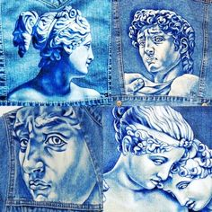 Woah. Classical and neo-classical art on a denim jacket looks a million times better than I could have thought