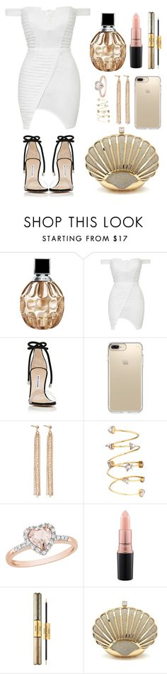 """""""Untitled #176"""" by ivanov1234491 ❤ liked on Polyvore featuring Jimmy Choo, Topshop, Manolo Blahnik, Speck, Charlotte Chesnais, Amour, MAC Cosmetics and tarte"""