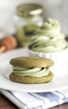 Healthy Matcha Green Tea Sugar Cookies (refined sugar free, gluten free, dairy free, vegan) #baking #tea #matcha