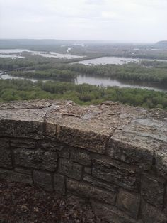 Wyalusing State Park; the Confluence of the Mississippi River and the Wisconsin River.