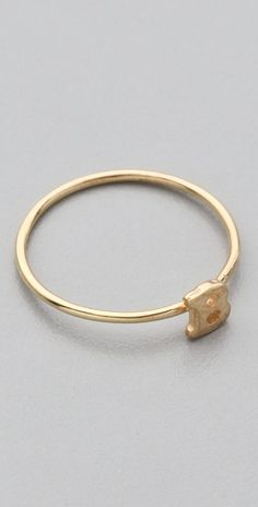 Initial ring - wonderful bridesmaids' gift, or buy one for yourself with new initials.
