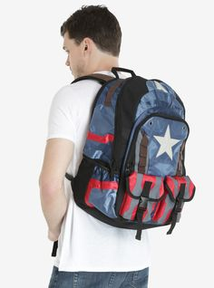 Marvel Captain America: Civil War Built Up Backpack   BoxLunch