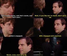 "When Michael convinced Jim to never lose faith in love. | Community Post: 27 Times ""The Office"" Got Way Too Real"