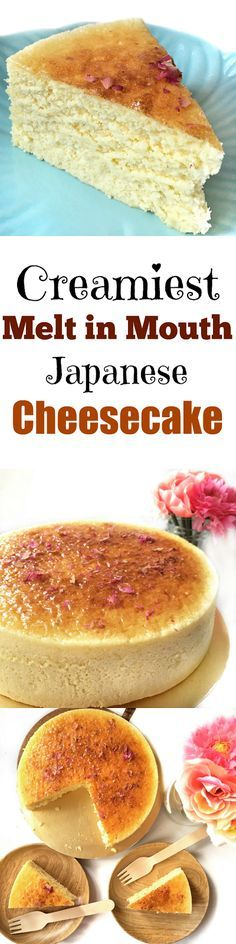 Souffle Cheesecake ( Makes 1 round cake) (Adapted from Ieatishootipost) Super creamy melt in you mouth Japanese Souffle Cheesecake.Super creamy melt in you mouth Japanese Souffle Cheesecake. Cheesecake Recipes, Dessert Recipes, Japanese Cheesecake, Asian Desserts, Sweet Desserts, Queso, Baked Goods, Cupcake Cakes, Cupcakes