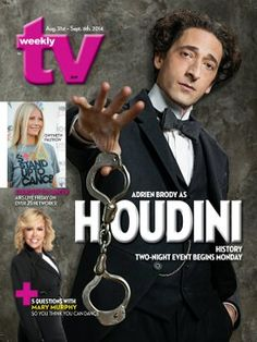 TV Weekly Now | Oscar winner Adrien Brody is captivating as Houdini in History Channel's two-part miniseries