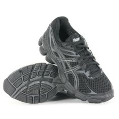 AwesomeNice Asics Gel Cumulus 14 Black Charcoal Womens Trainers