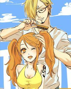 Nami and Sanji #Cute