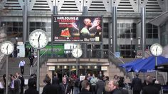 Digital Outdoor Advertising for Harlequins Rugby Club at Canary Wharf, London http://www.oohinternational.co.uk/digital-media-advertising