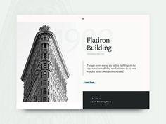 NYC Landmark UI designed by Justin Vinalon. Connect with them on Dribbble; Flatiron Building, Manhattan New York, New York City, Nyc, Website, Inspiration, Instagram, Design, Biblical Inspiration