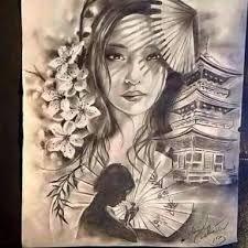 Znalezione obrazy dla zapytania tatuagens gueixa desenhos